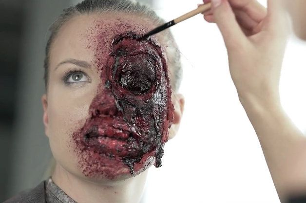 company shows you how to apply a car-crash face for Halloween