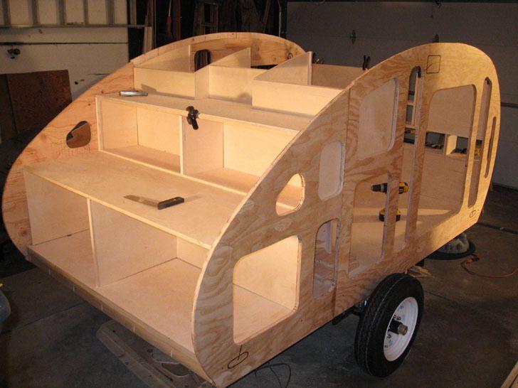 Teardrop Trailer Kit 8 Cubby : Garage built wyoming woody teardrop trailer
