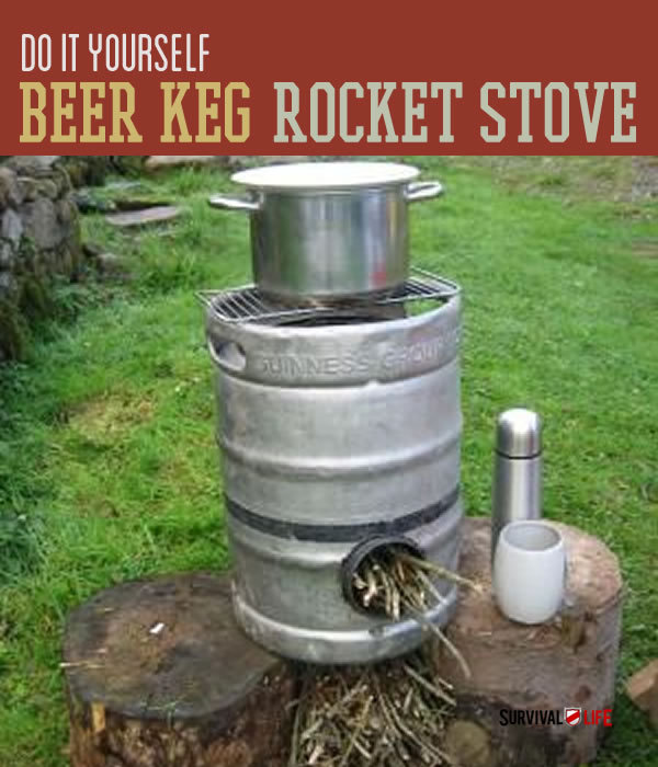 beer keg rocket stove instructions