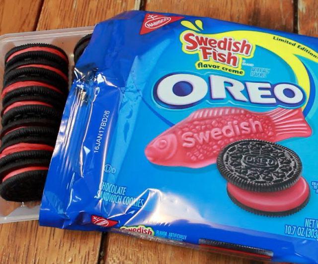Swedish fish oreos for Swedish fish oreos
