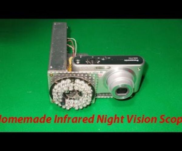Homemade Infrared Night Vision Scope Riflescope Diy