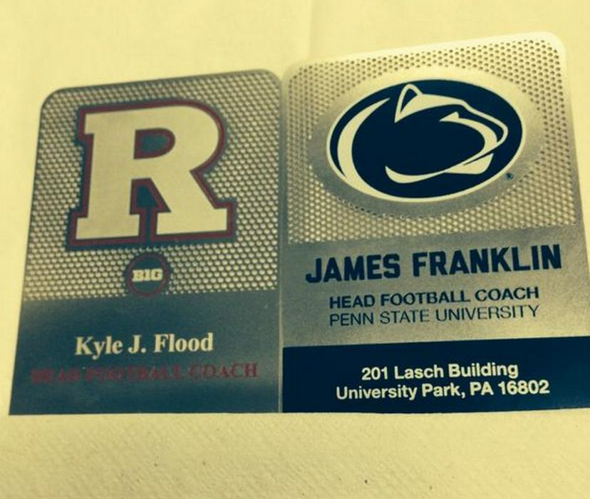 James Franklin And Kyle Flood Both Have Awesome Metal Business Cards