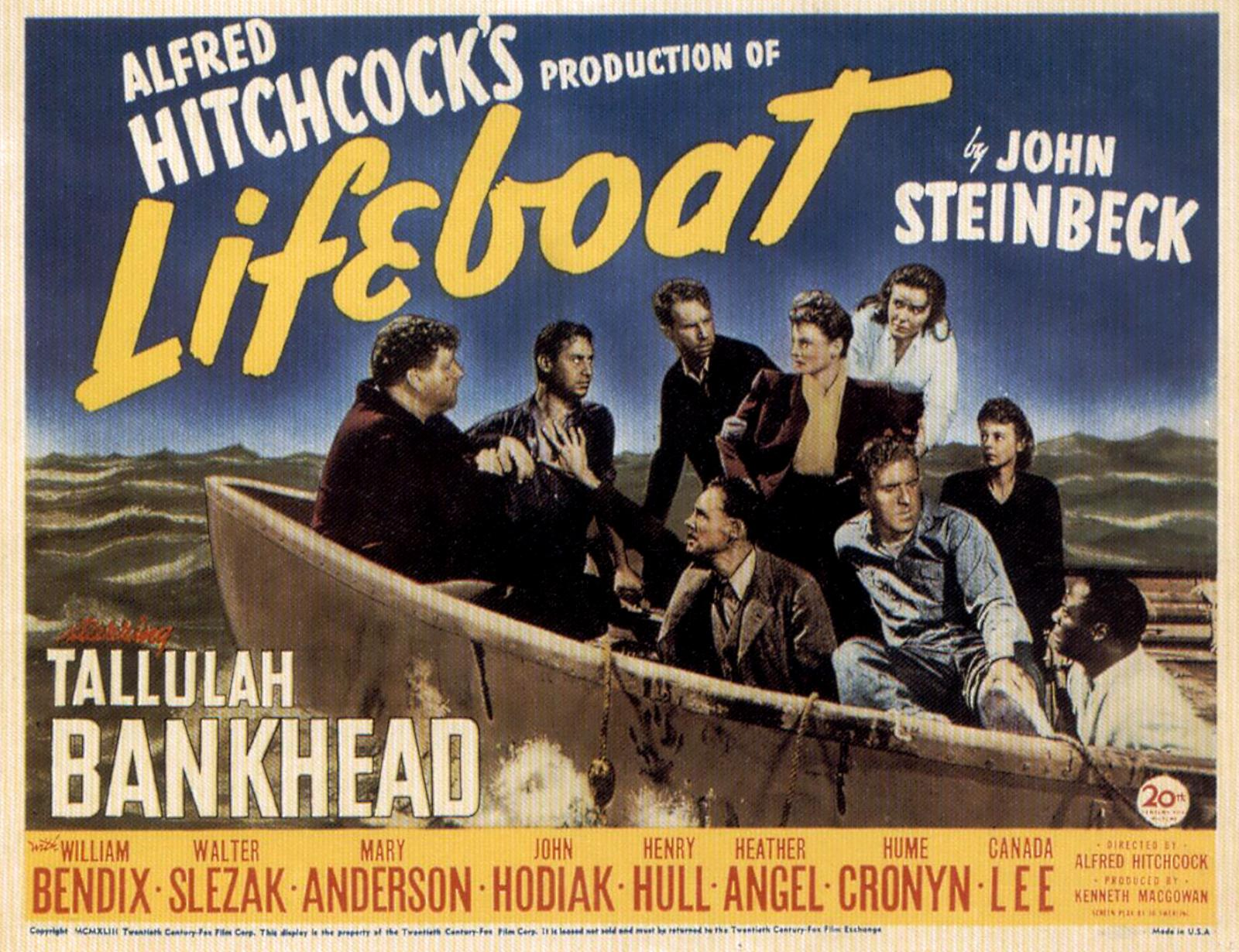 a review of lifeboat a classic movie by alfred hitchcock