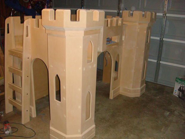 Building a pretty princess castle bed your child will love for How to build a castle bed