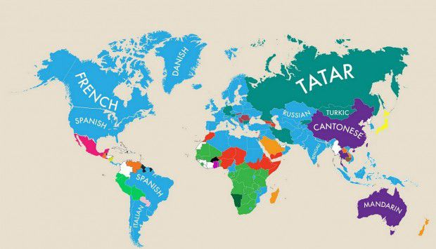 In France Spanish In The US Korean In Japan This Map Reveals - Japan map facts