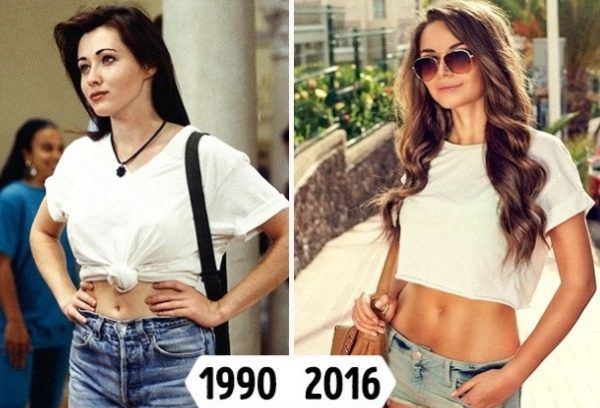 15 trend pieces of evidence that the 90 s fashion repeats