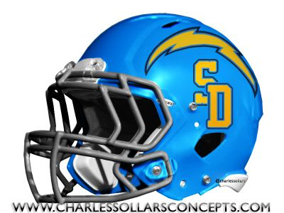 San Diego Chargers Powder Blue Helmet Concepts