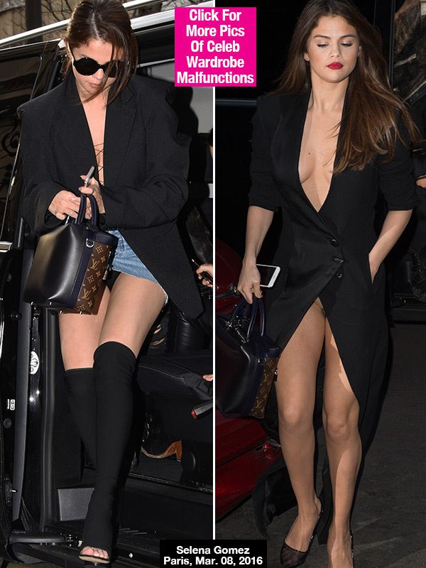 Selena Gomez Flashes Underwear Twice In One Day In Paris