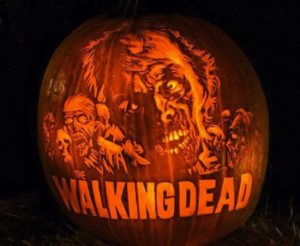 Easy pumpkin carving stencils donald trump walking dead
