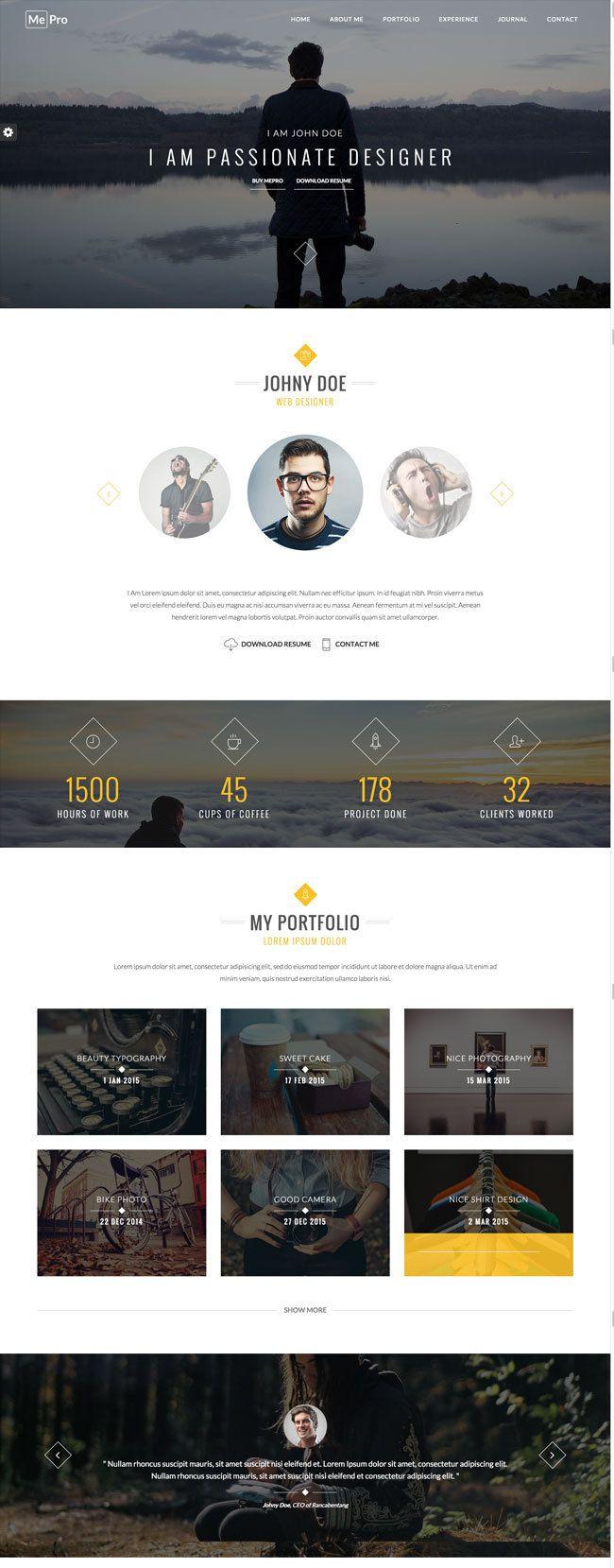 Best HTML Responsive Virtual Business Card Templates 2015