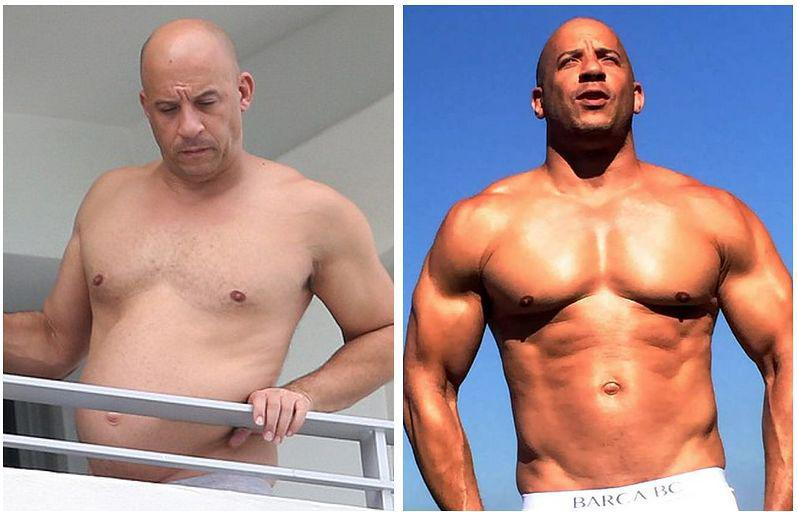 The fat and the furious: vin diesel's latest dad bod picture.