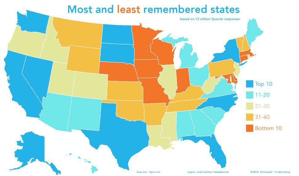 US Maps Highlight The Differences Between Our 50 States