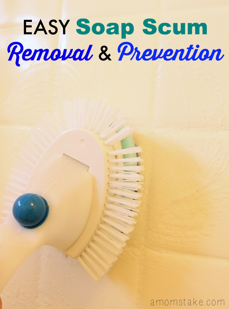 easy soap scum prevention and removal