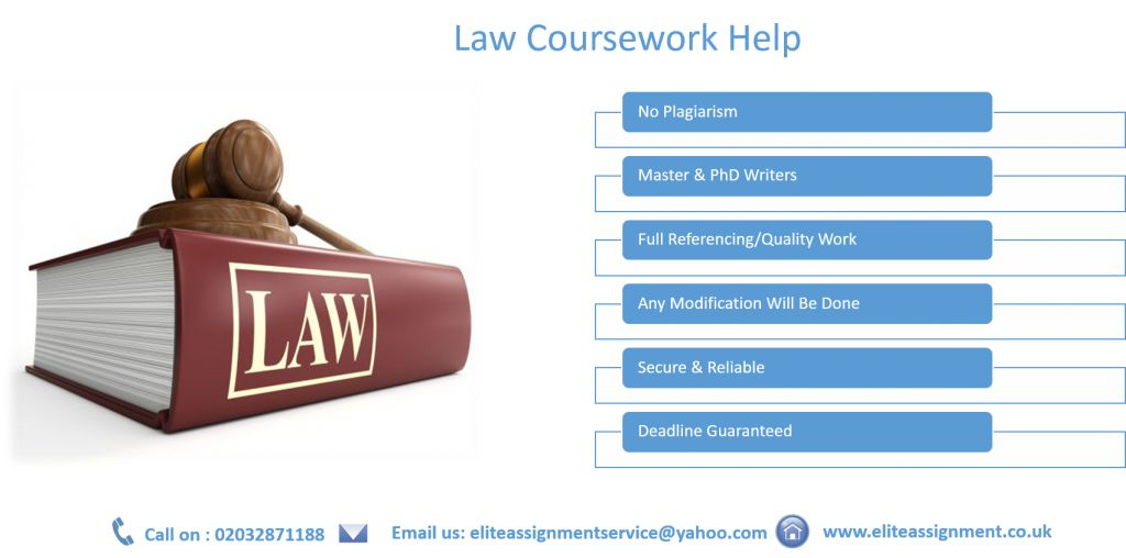 law coursework service Law coursework writing at a loss help from our law assignment writing service for first for your law or legal essay coursework, you must be thorough.