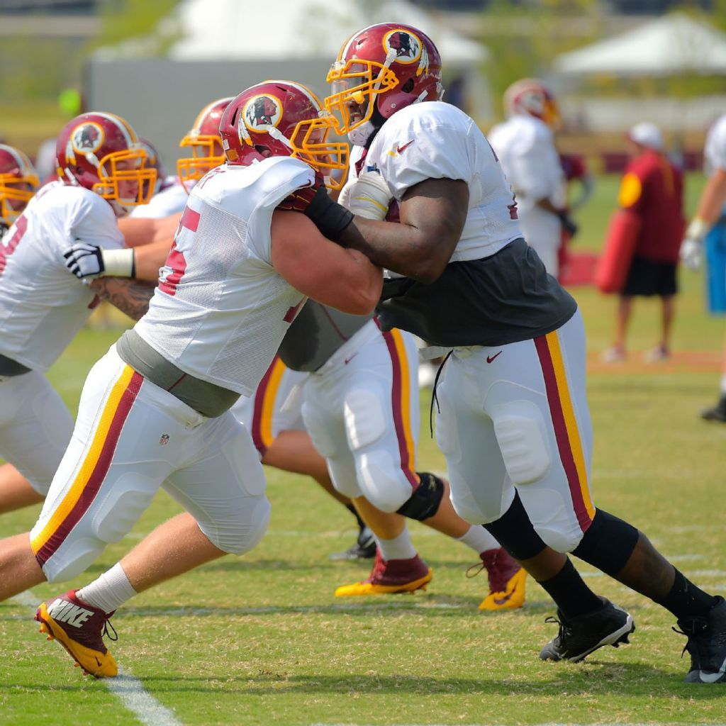 try Brandon Scherff at guard with Morgan Moses at tackle