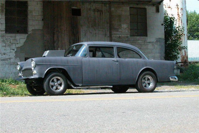 39 two lane blacktop 39 1955 chevy two door sedan heads to for 1955 chevy 2 door sedan