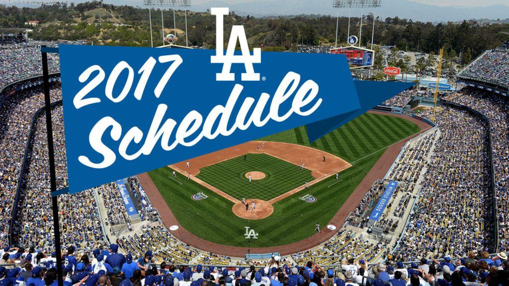 Dodgers' 2017 schedule announced