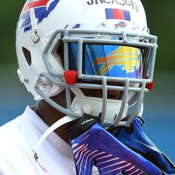 Football helmet facemask logo