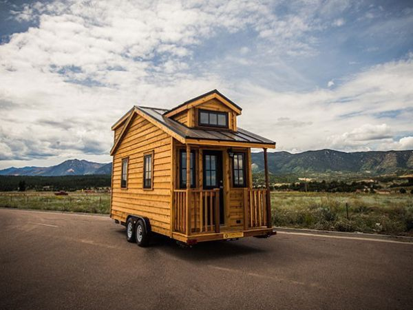 131 sq ft linden 20 horizon tiny home on wheels by tumbleweed houses - Small houses wheels home getaway ...