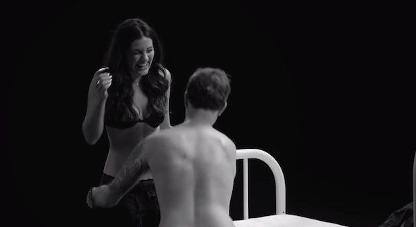 Strangers Are Asked To Undress Each Other And Get In Bed - Awkward video shows strangers undressing eachother