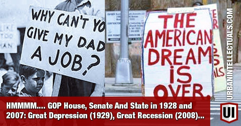 an analysis of the causes of the great depression and the great recession