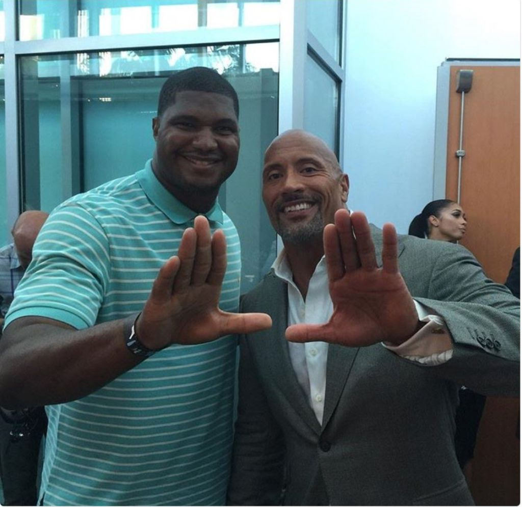 The Rock Calais Campbell Do The U At Ballers