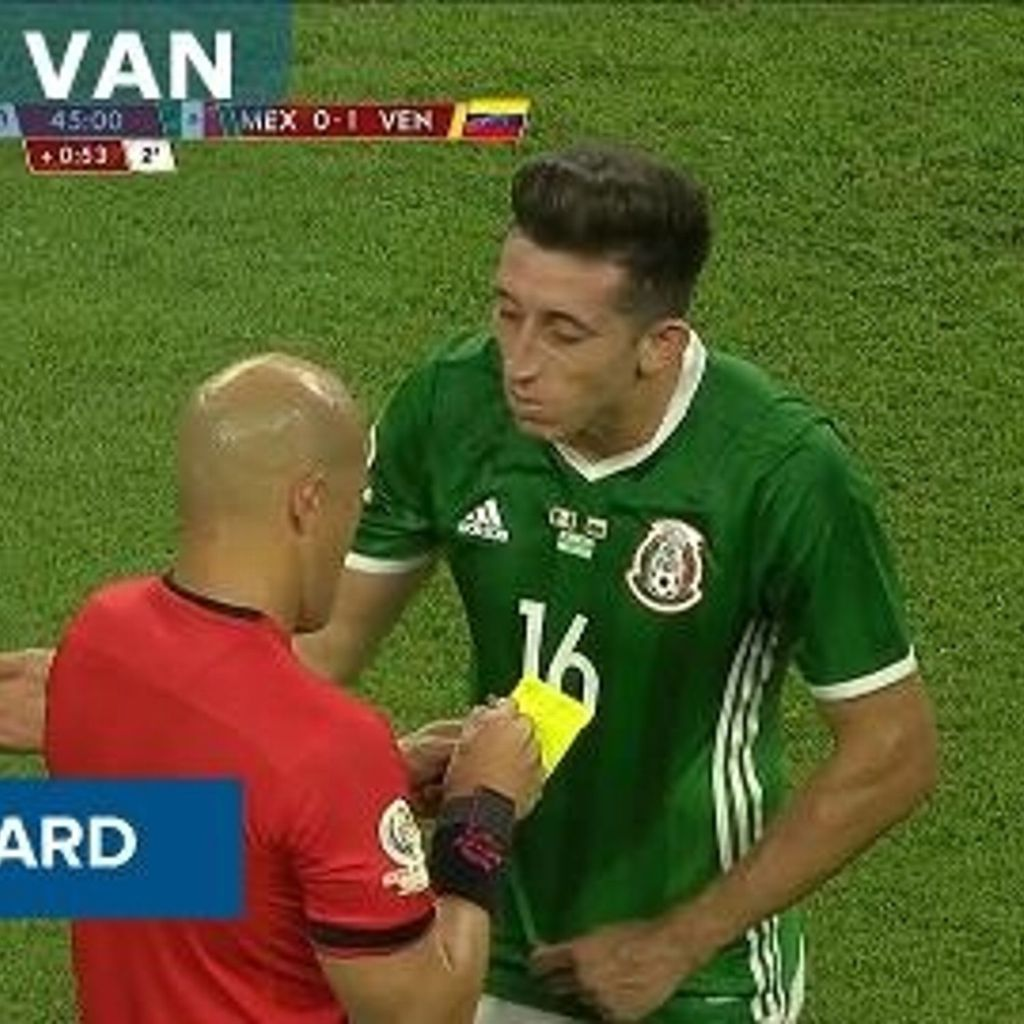 vs Venezuela Foul Yellow Card Hector Herrera COPA AMERICA