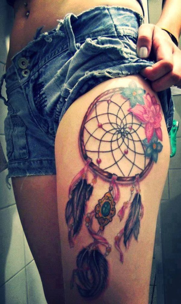 30 dreamcatcher tattoo designs and the meaning behind them for Jobs that don t allow tattoos