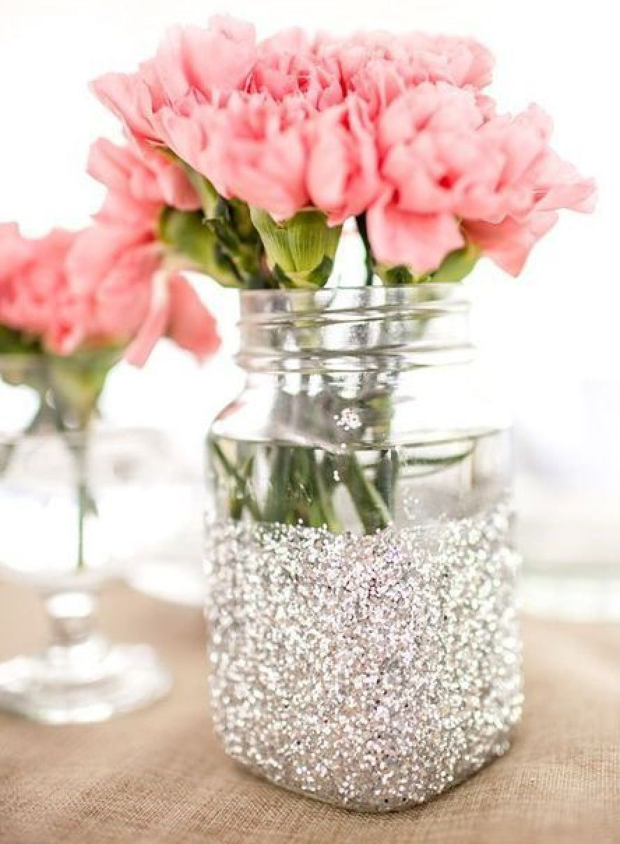 vase ideas home 10 ideas of flower vases for table decoration 10 glitter mason jar vase ideas for your home