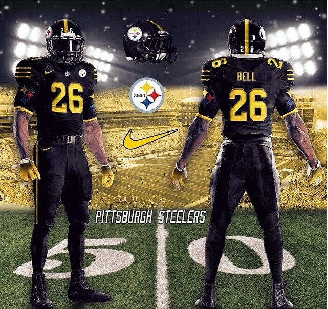 steelers color rush jersey game
