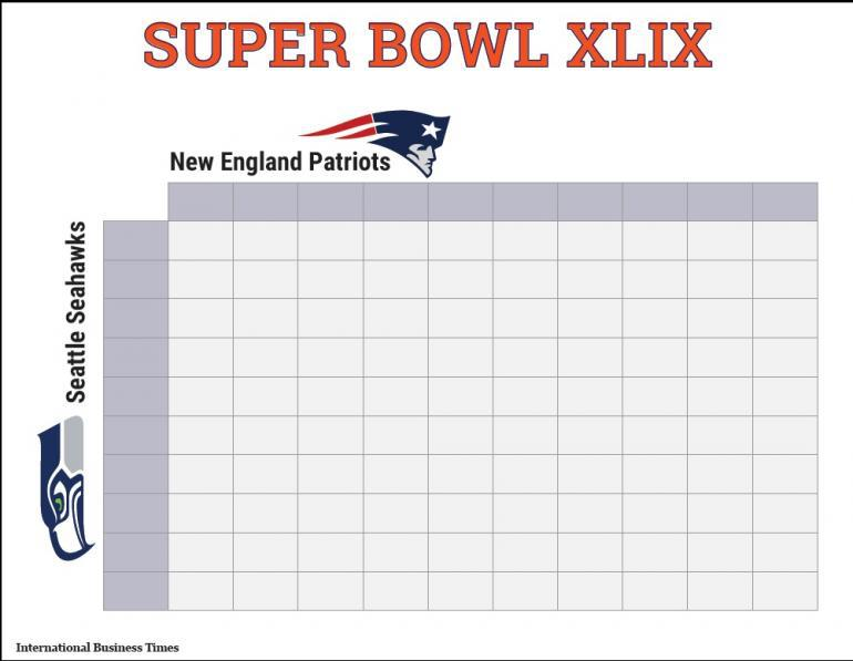 super bowl box template - super bowl 2015 squares printable boxes document for