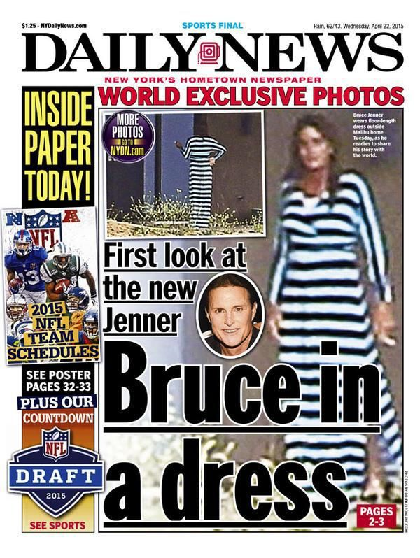 First images of bruce jenner in a dress