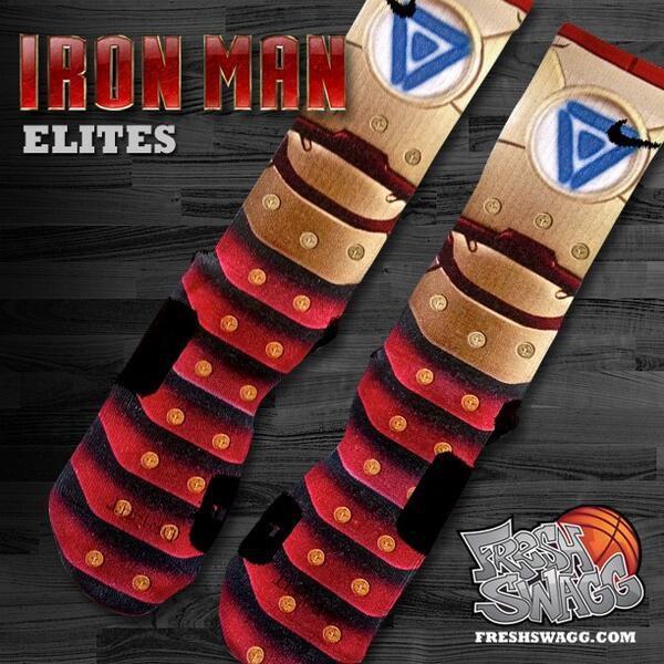 Custom nike iron man elite socks via freshswagg com for Custom elite com