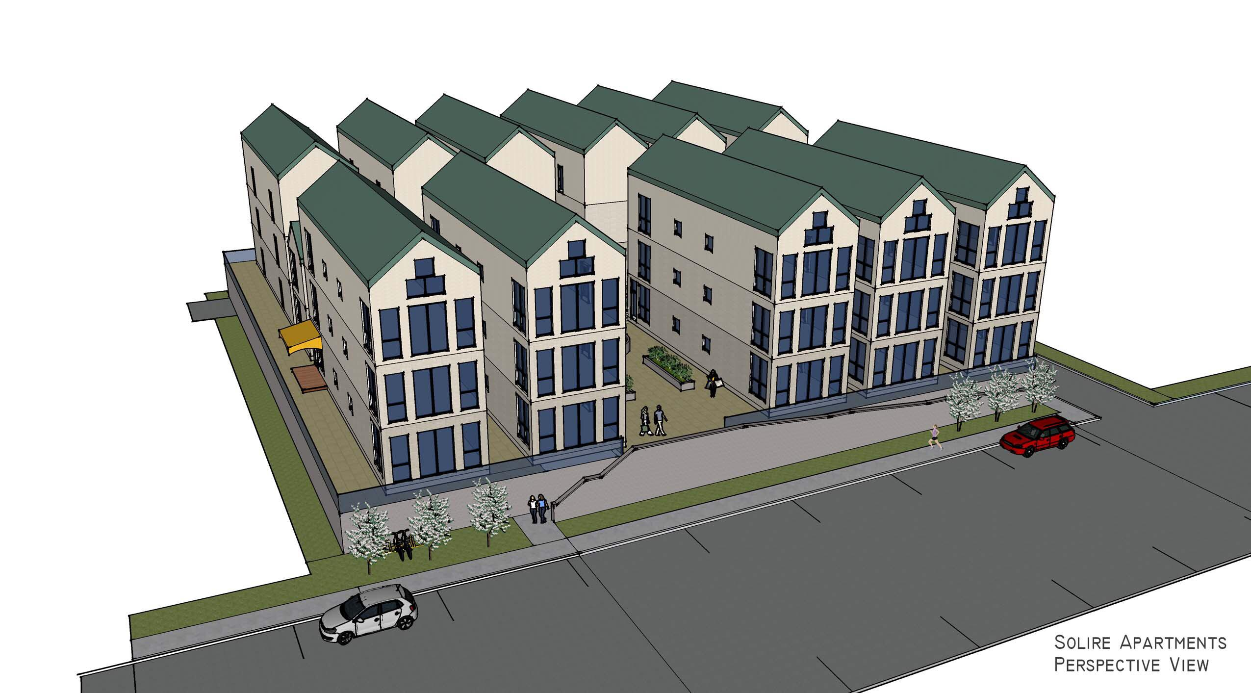 Solire millennial micro apartments planned for downtown for Apartment complex building plans