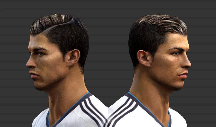 Ronaldo In PES - New face hair cristiano ronaldo pes 2013