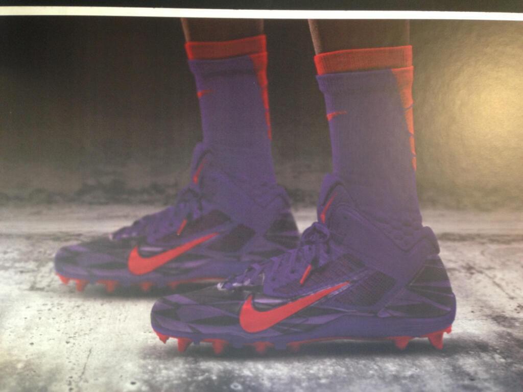 TCU new Nike football cleats.