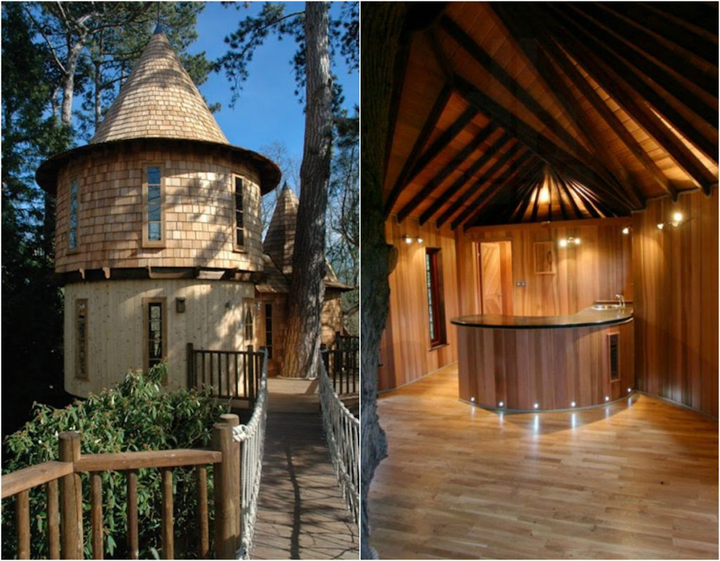 This ordinary tree house looks like a beautiful castle for Houses that look like castles