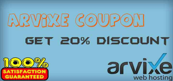 Arvixe discount coupon