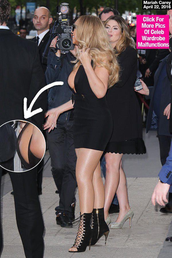 Mariah Careys Nip Slip Flashes Bare Breast In Daring -3729