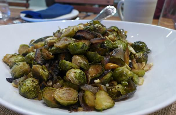 Roasted Brussels Sprouts with Crown Maple Glazed Chestnuts