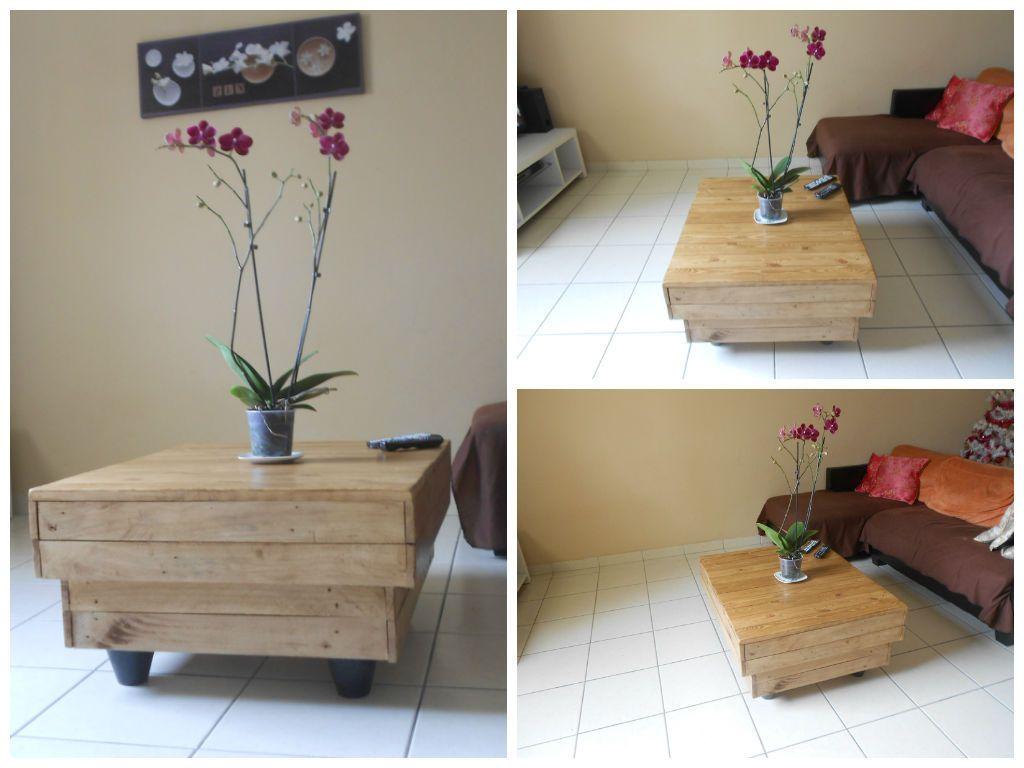 table de salon pallet coffee table 1001 pallets. Black Bedroom Furniture Sets. Home Design Ideas