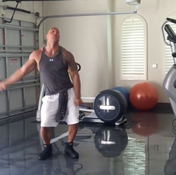 "Dwayne ""The Rock"" Johnson Hits The Quan After Working Out Dome Of The Rock"