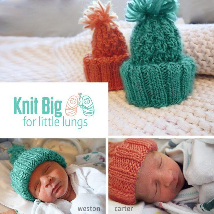Knitting Unit Project : Knit big for little lungs project guest post moogly