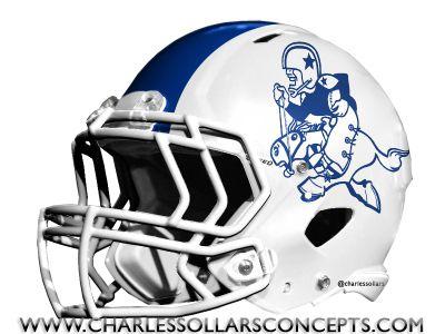 Dallas cowboys white helmet concepts - Dallas cowboys concept helmet ...