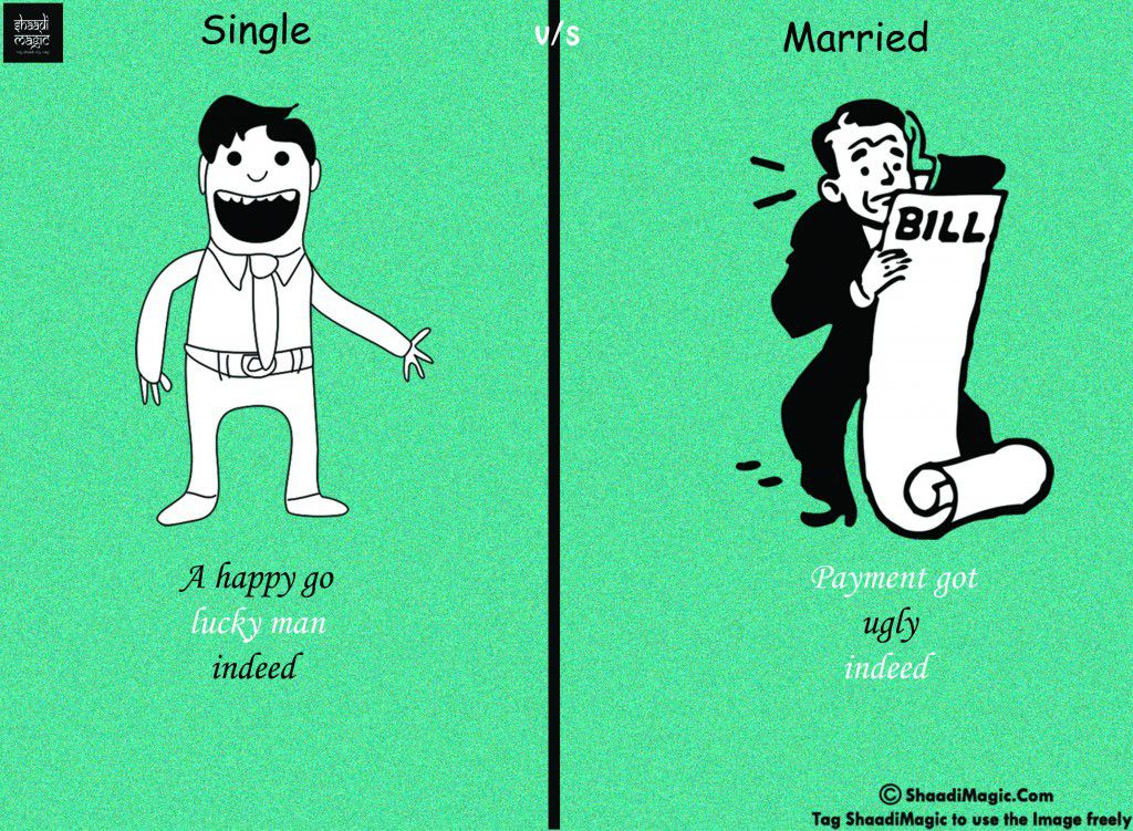 the difference of marriage and single essay