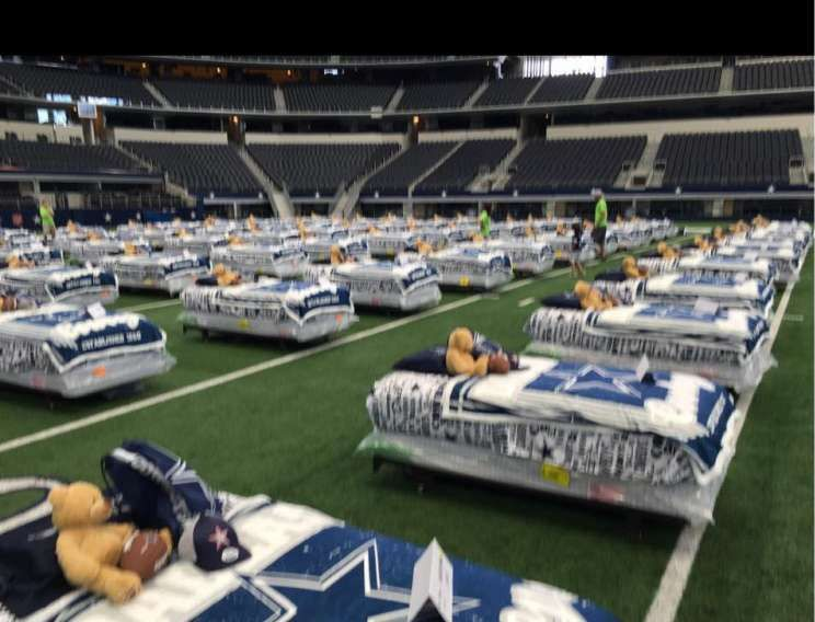 100 Kids Have Sleepover At Dallas Cowboysu0027 ATu0026T Stadium As Part Of Ashley  Furniture Charity Event