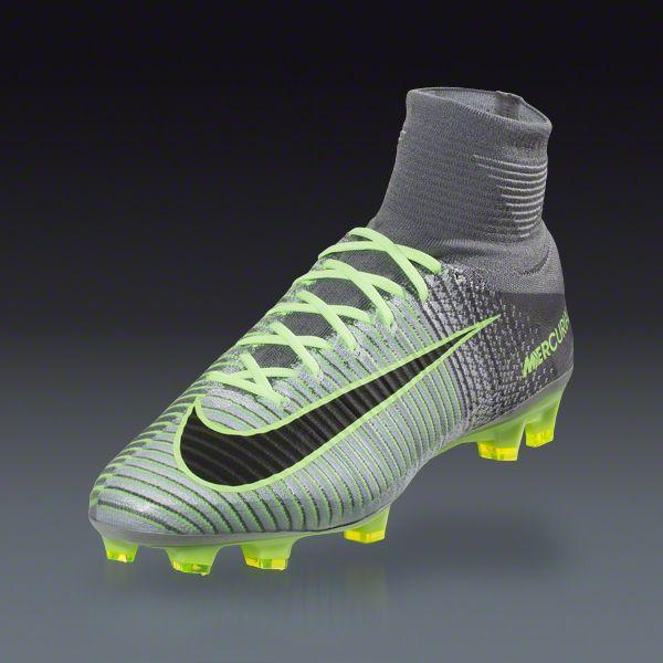 ... Gray Black Green  Nike MERCURIAL SUPERFLY V FG - Pure  Platinum Black-Ghost Green-Hyper Turq ... c23705fab16c
