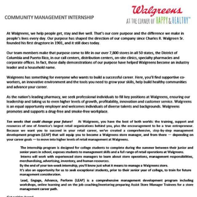 walgreens resumes