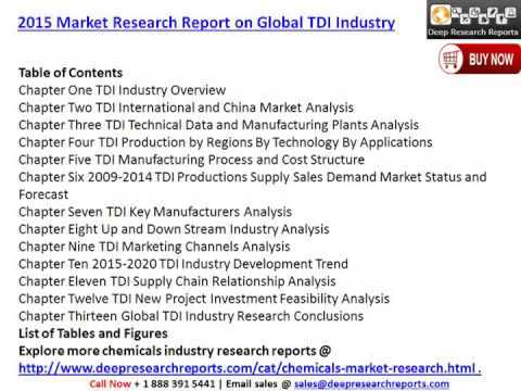 toluene diisocyanate tdi market global industry