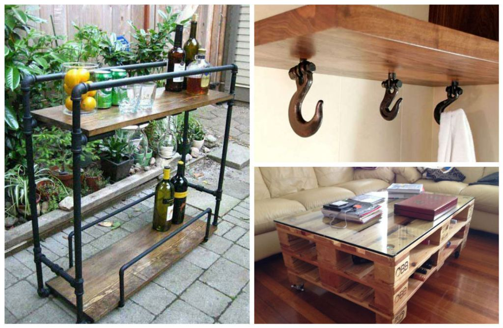 Super Cool Industrial Furniture Designs That You Can Easily DIY